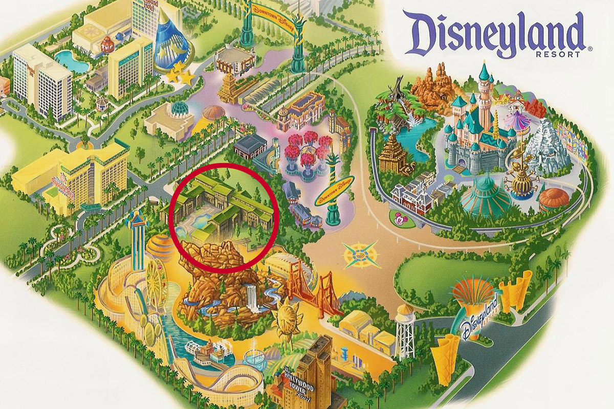 Disneyland Map with Grand Californian Hotel