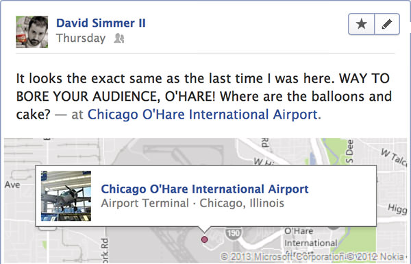 Face Book Ohare Update