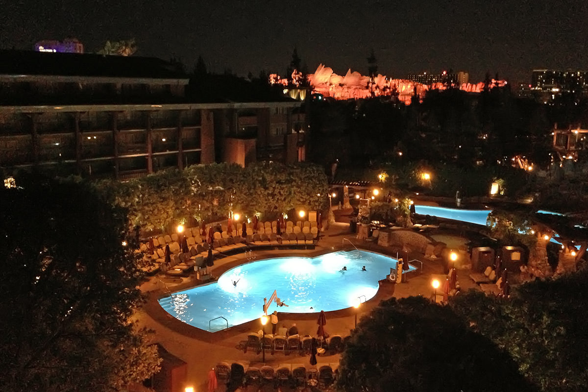 Grand Californian Pool at Night