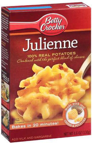 Julienne Potatoes Box