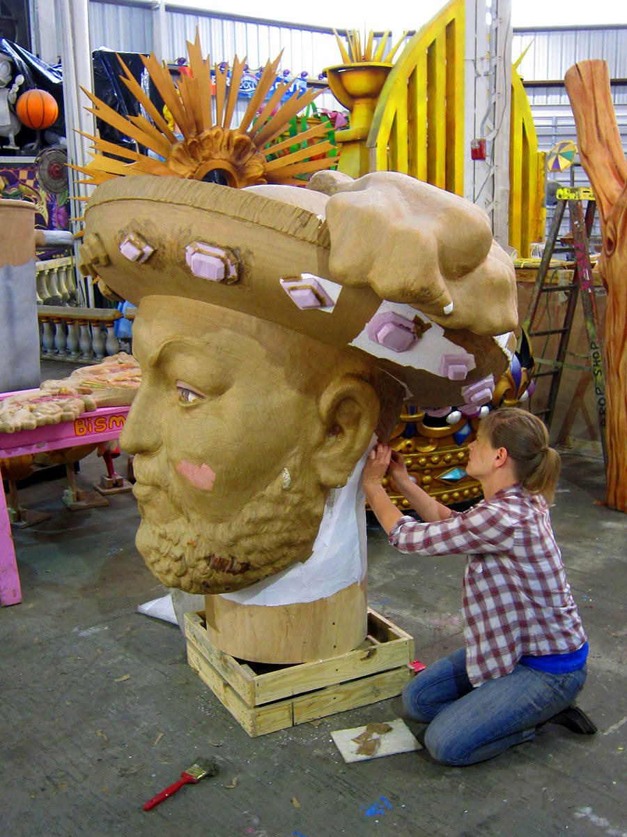 Mardi Gras World Worker