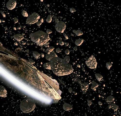 Millenium Falcon Asteroids