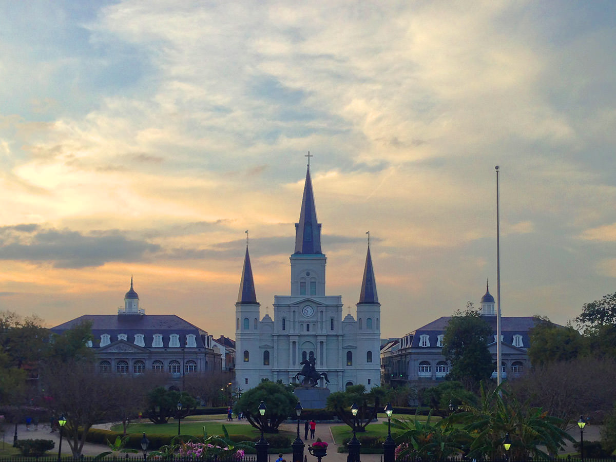 Jackson Square Neew Orleans at Dusk