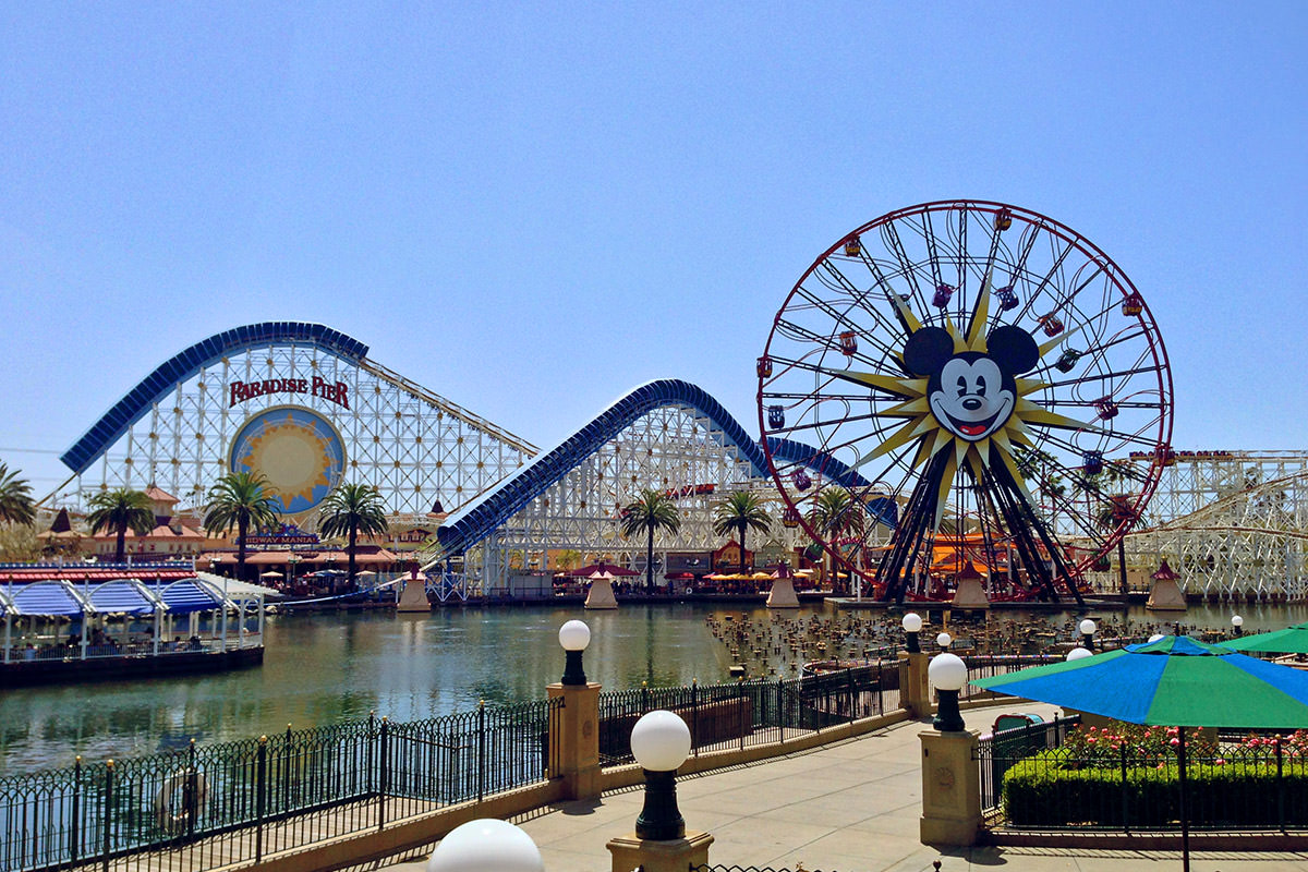 Paradise Pier and Mickey's Fun Wheel