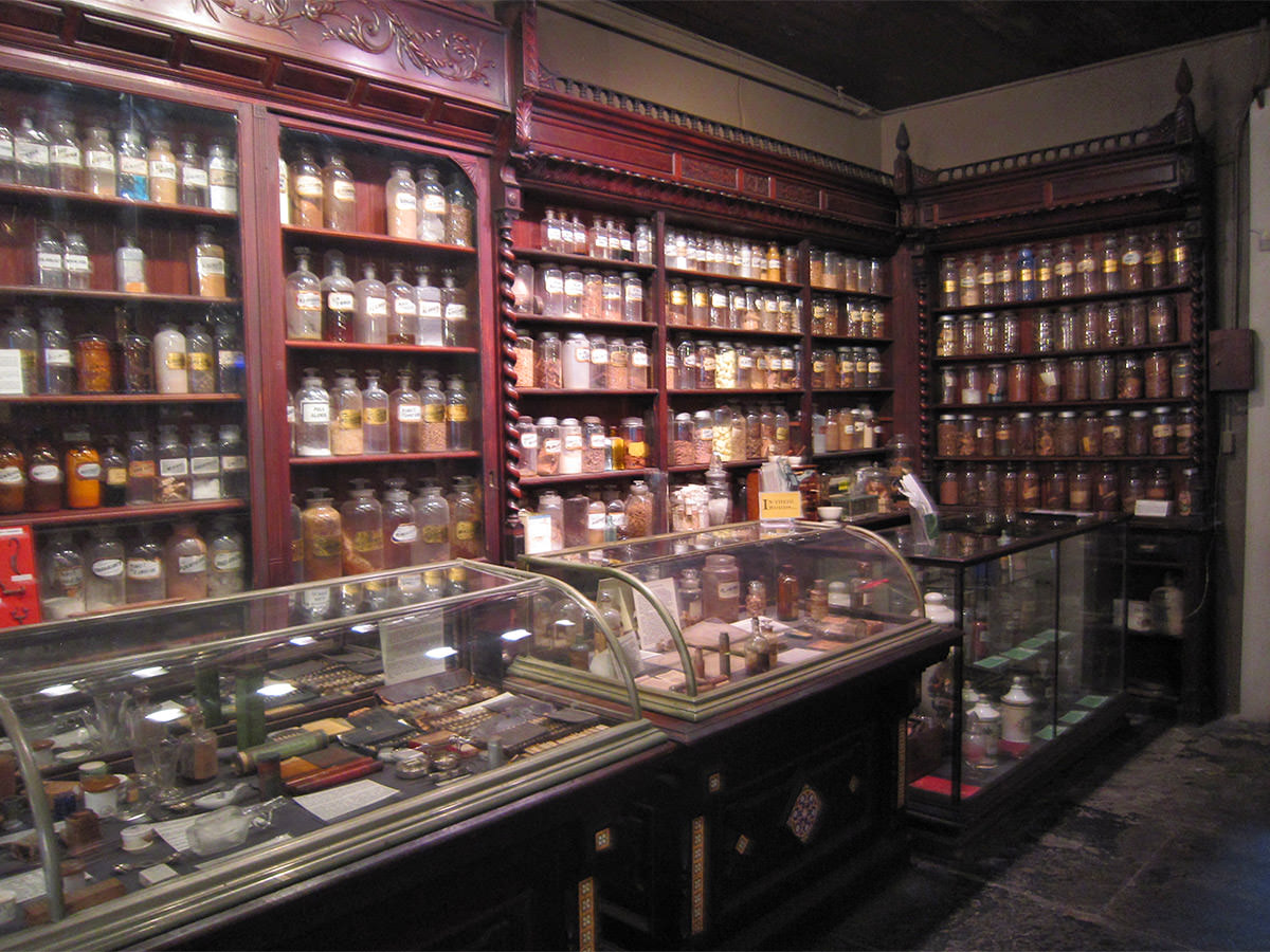 Pharmacy Museum Shelves