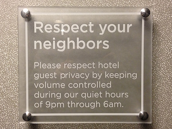 Repect Your Neighbors!