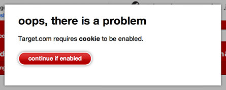 Target Cookies Required
