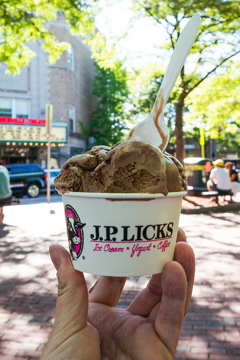 Chocolate Ice Cream at J.P. Licks