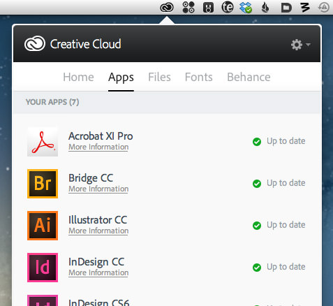 Creative Cloud Menu