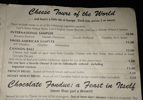 Dante's Cheeses of the World!