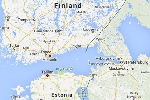 Finland Gulf Map