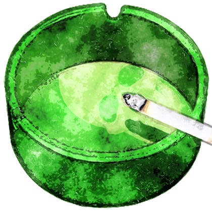 Green Ashtray