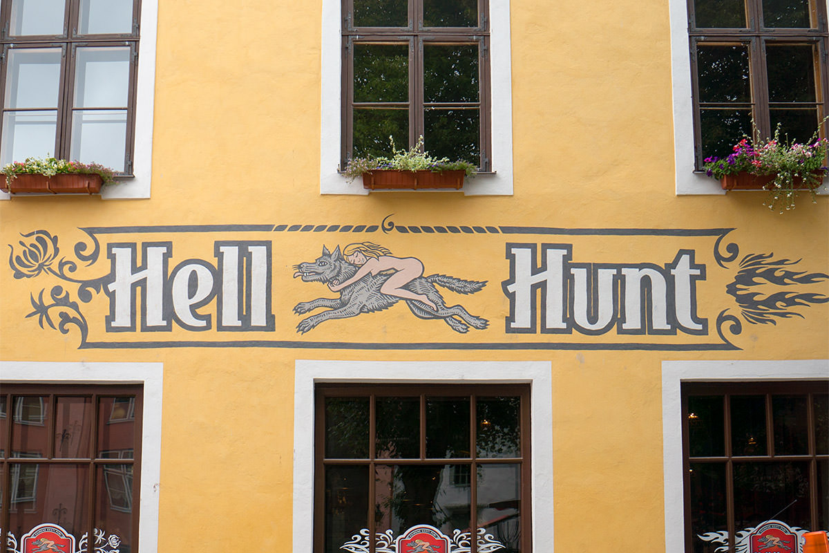 Hell Hunt Sign