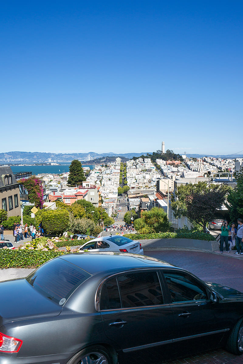Lombard Street Looking Down