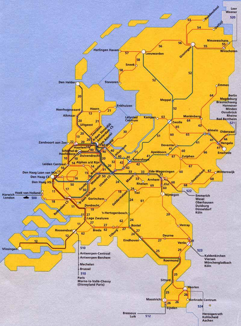 Netherlands Rail Network