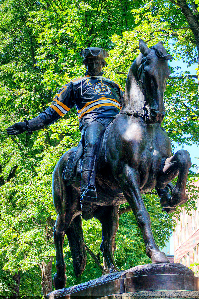 Paul Revere in a Bruins Jersey