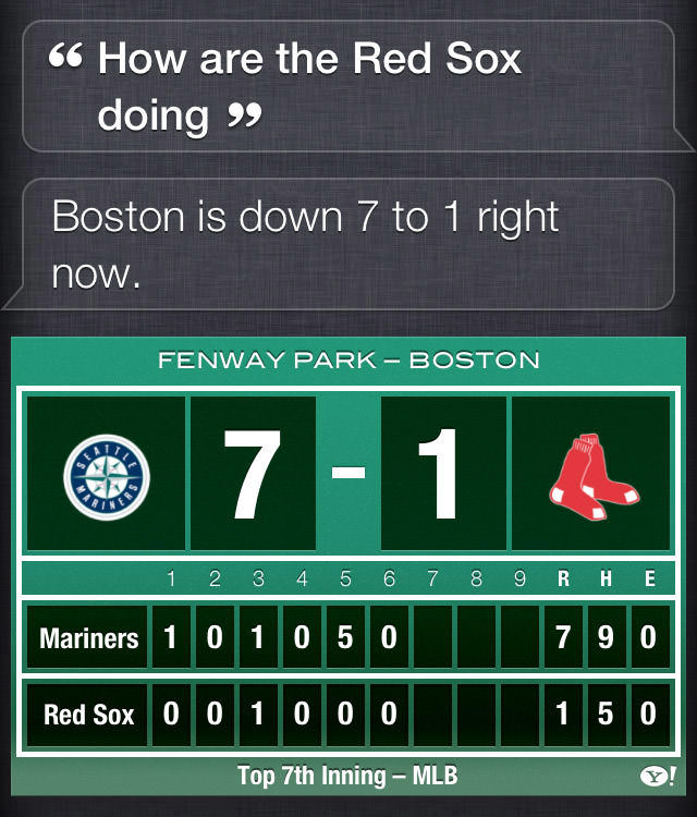 Boston is down 7 to 1 right now...
