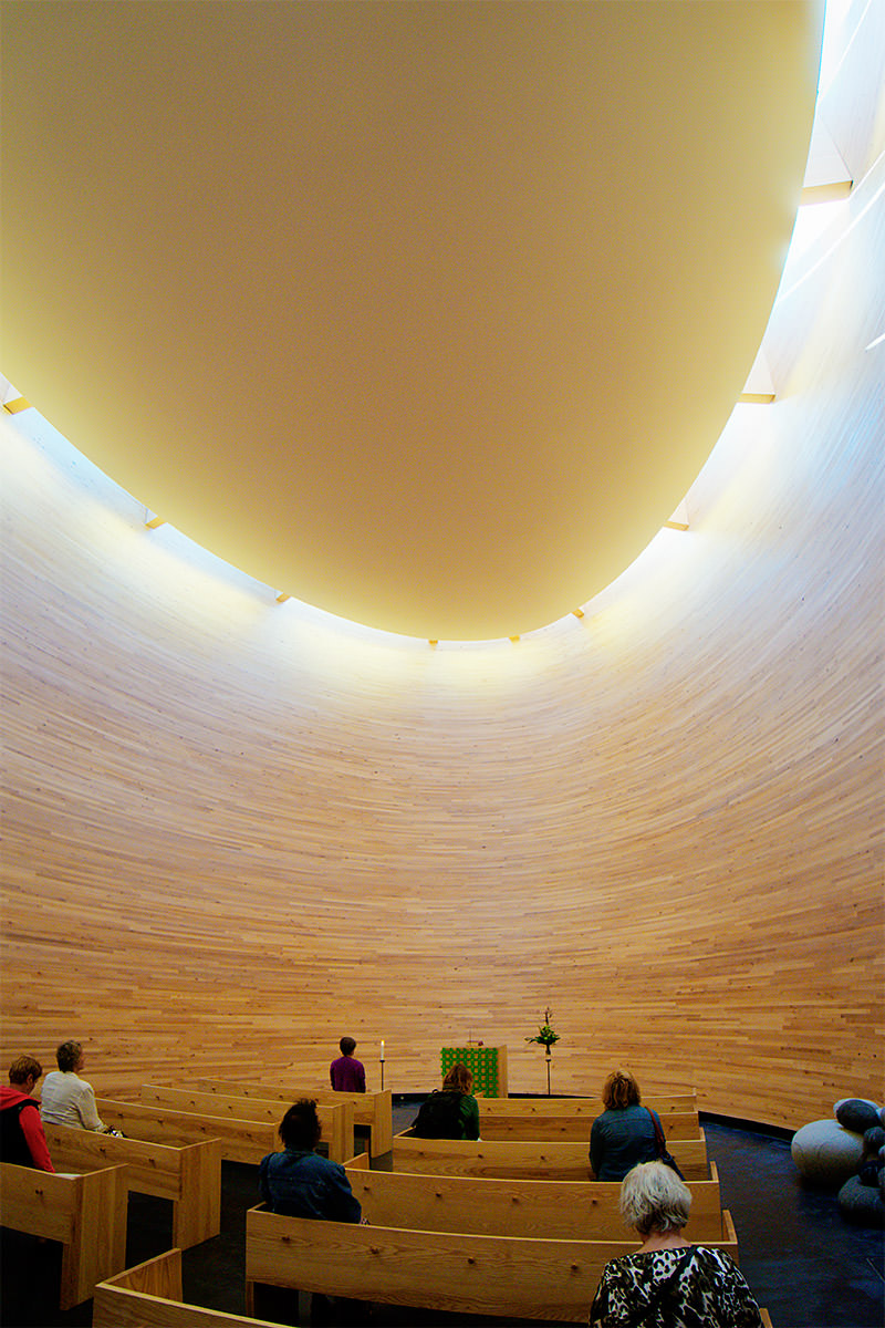 Kamppi Chapel of Silence Interior