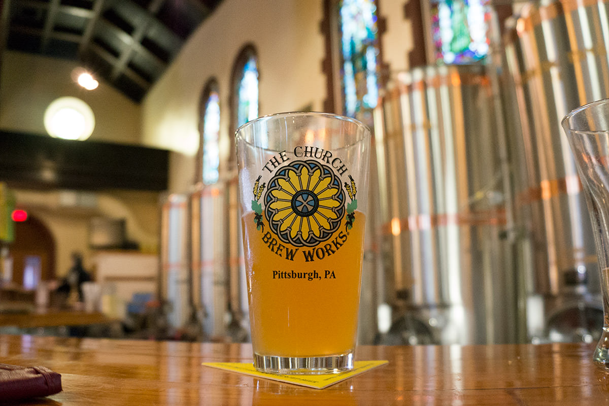 The Church Brewery Glass