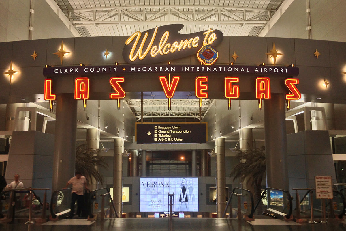 Vegas Welcome Sign at McCarran Airport