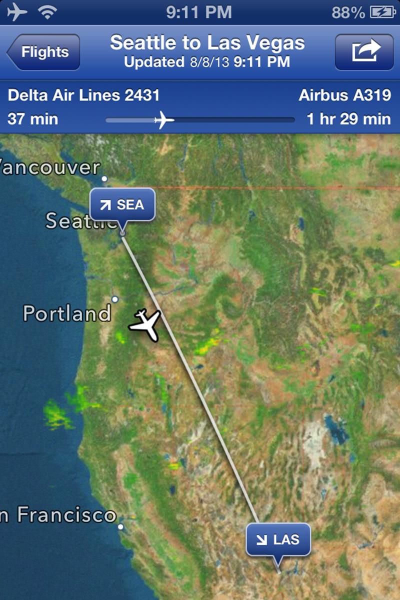 Vowgas Flight Map