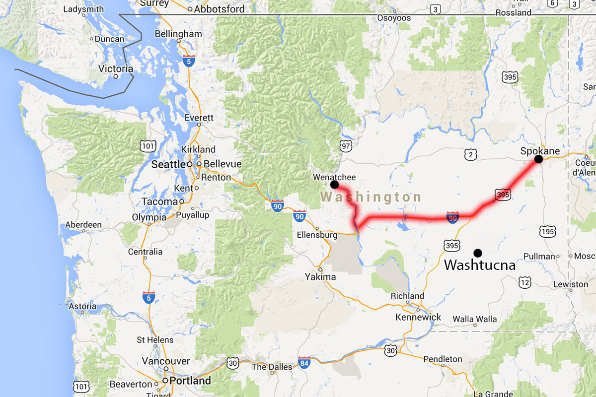 Washington and Washtucna
