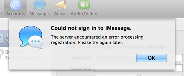 iMessage Error!!!