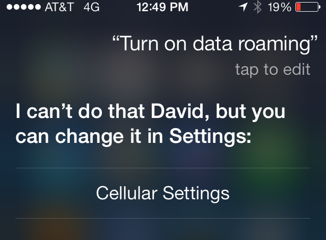 iOS 7 Siri Settings