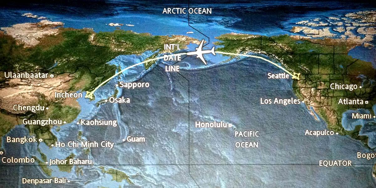 Half-Way Point Korean Airlines