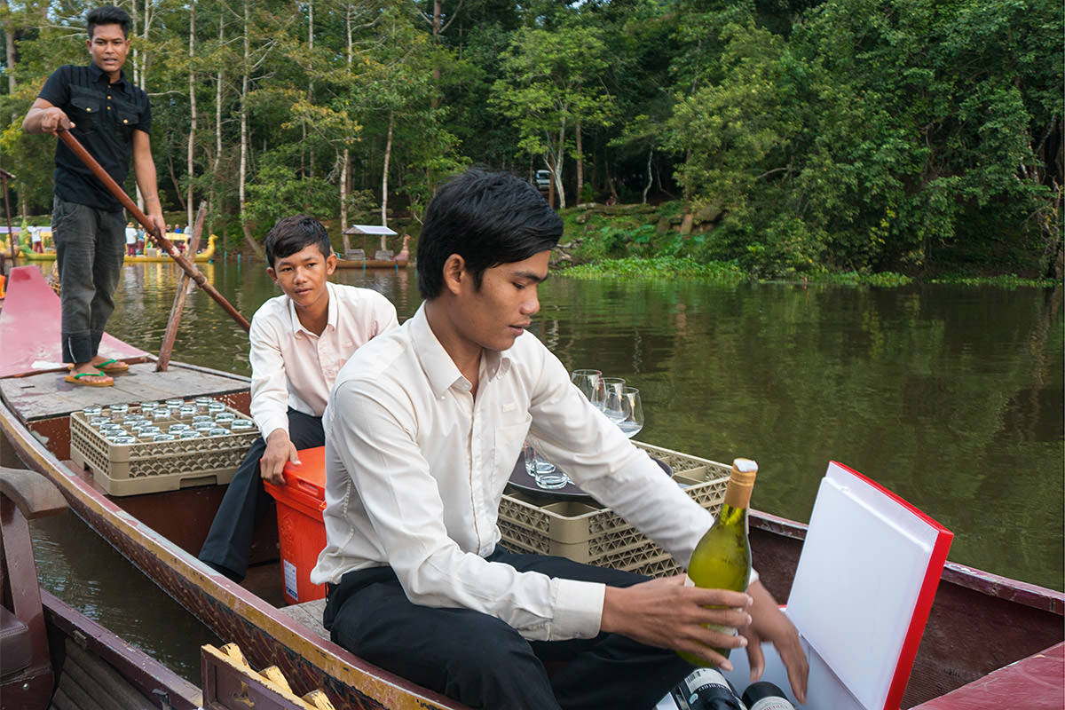 Angkor Gondola Ride Bar Boat
