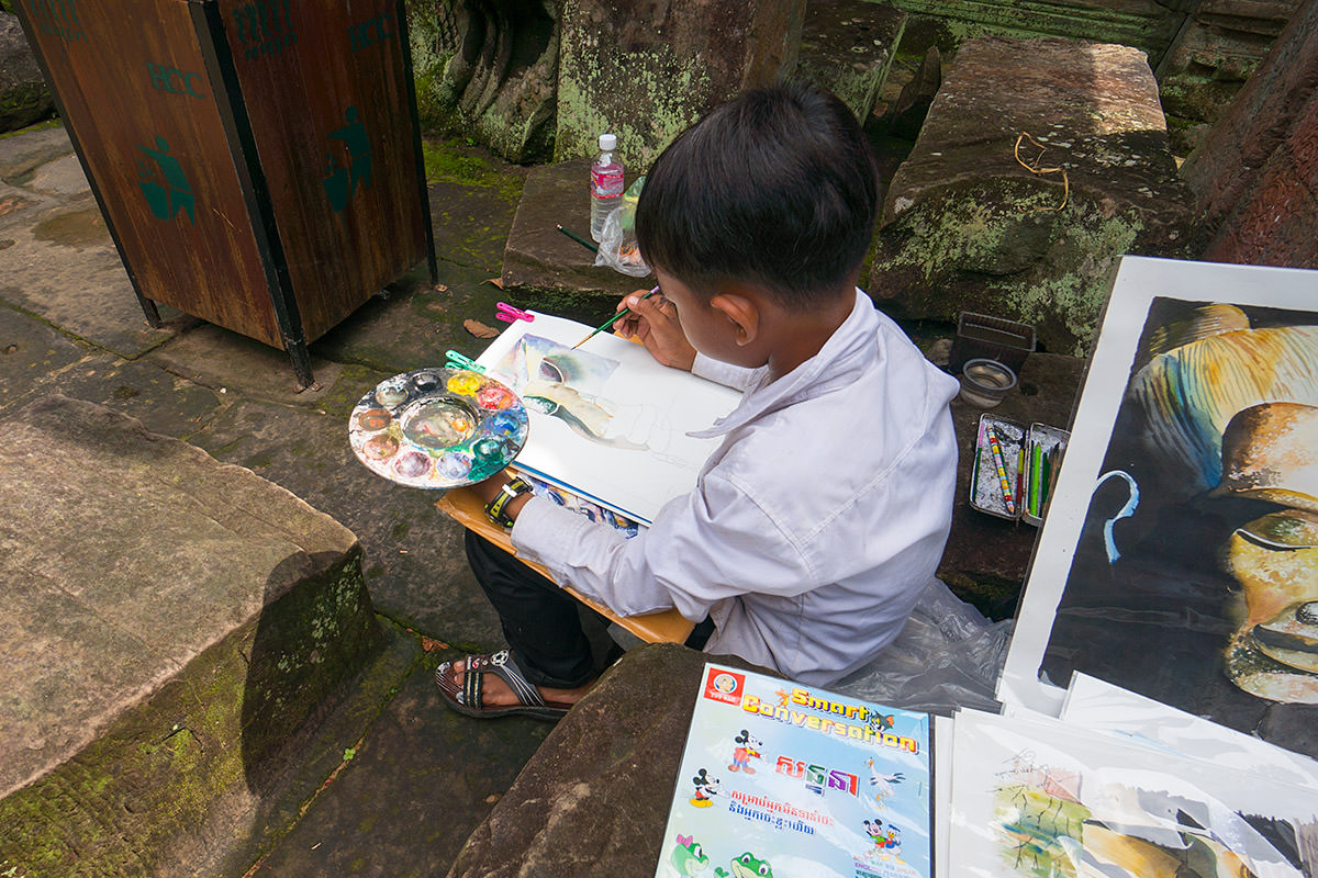 Preah Khan Boy Painting