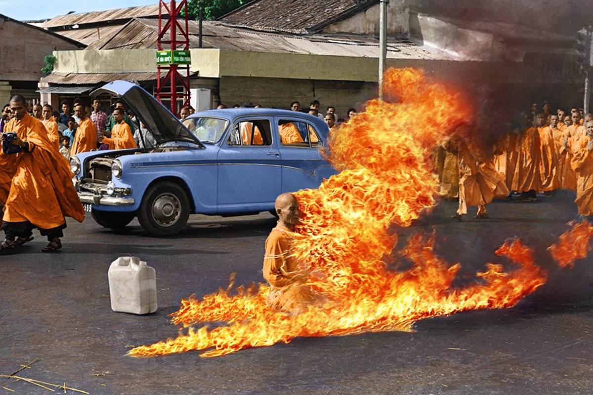 Thích Quảng Đức Self-Immolation Photo by Malcolm Browne