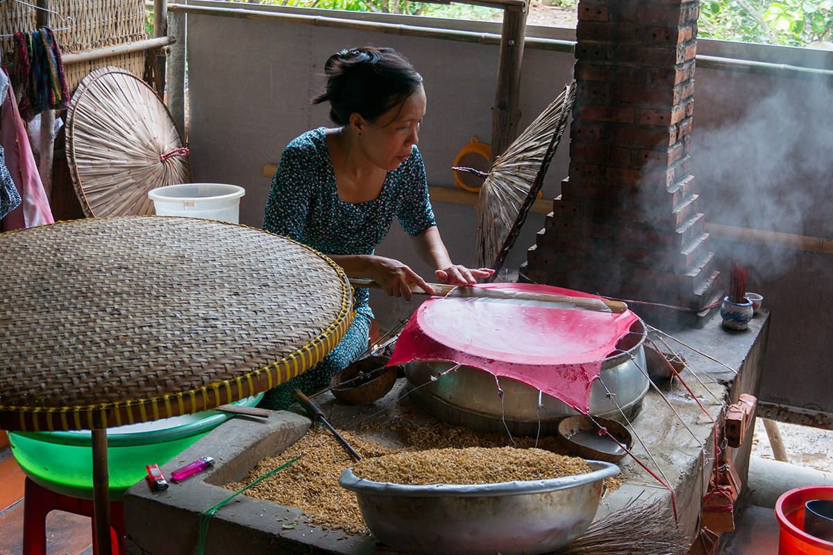Vietnam Mekong Rice Paper Making