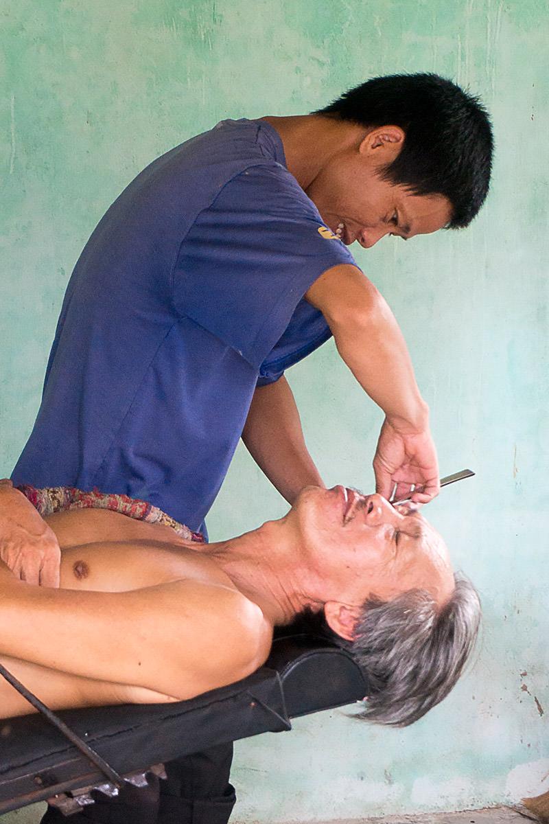Barber in Vietnam