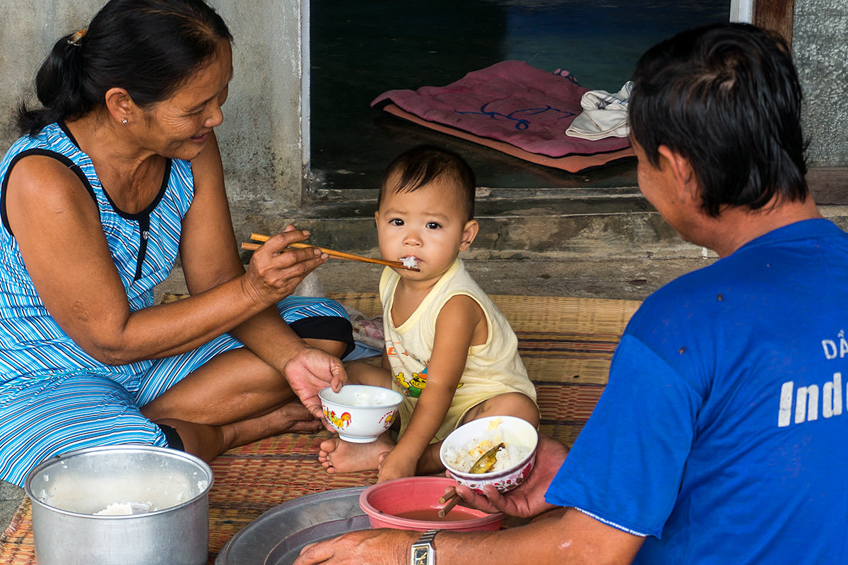 Lunch with Grandma in Vietnam