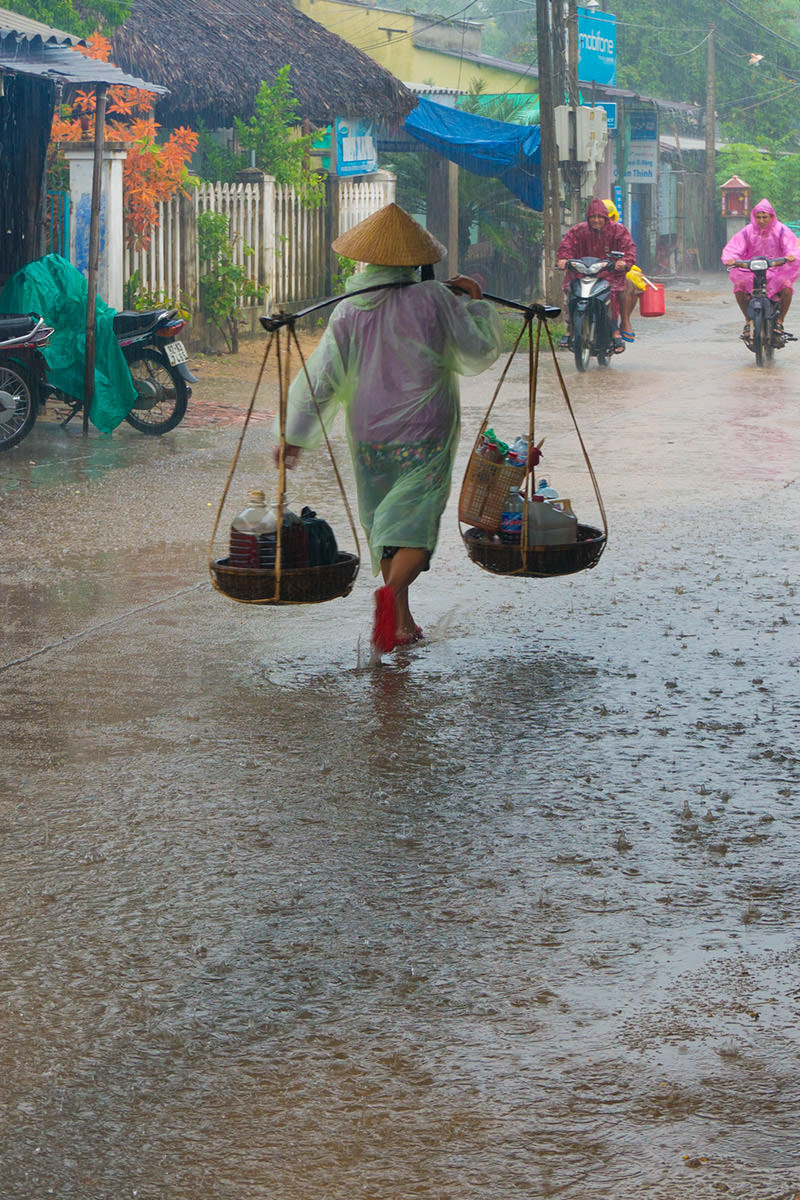 Raining in Hoi An, Vietnam