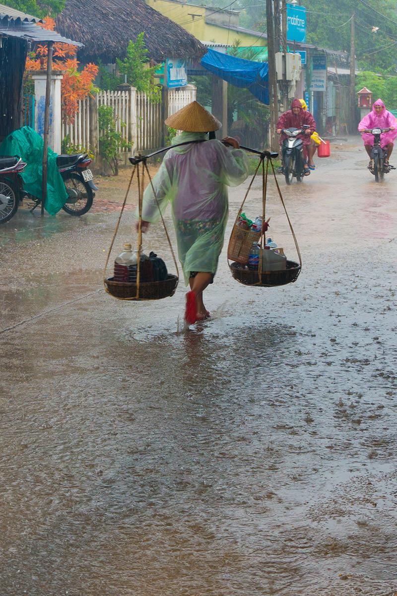 Raining in Hoi An, Vietnam