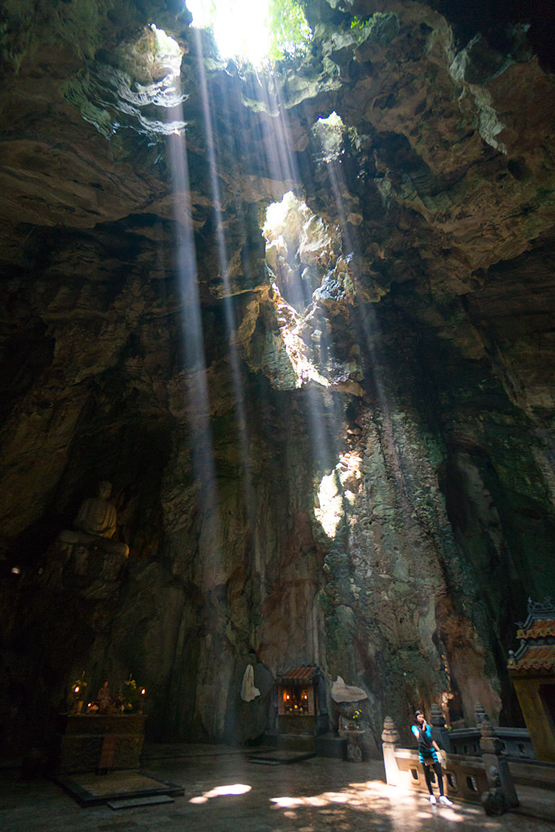 Marble Mountain Cave Light