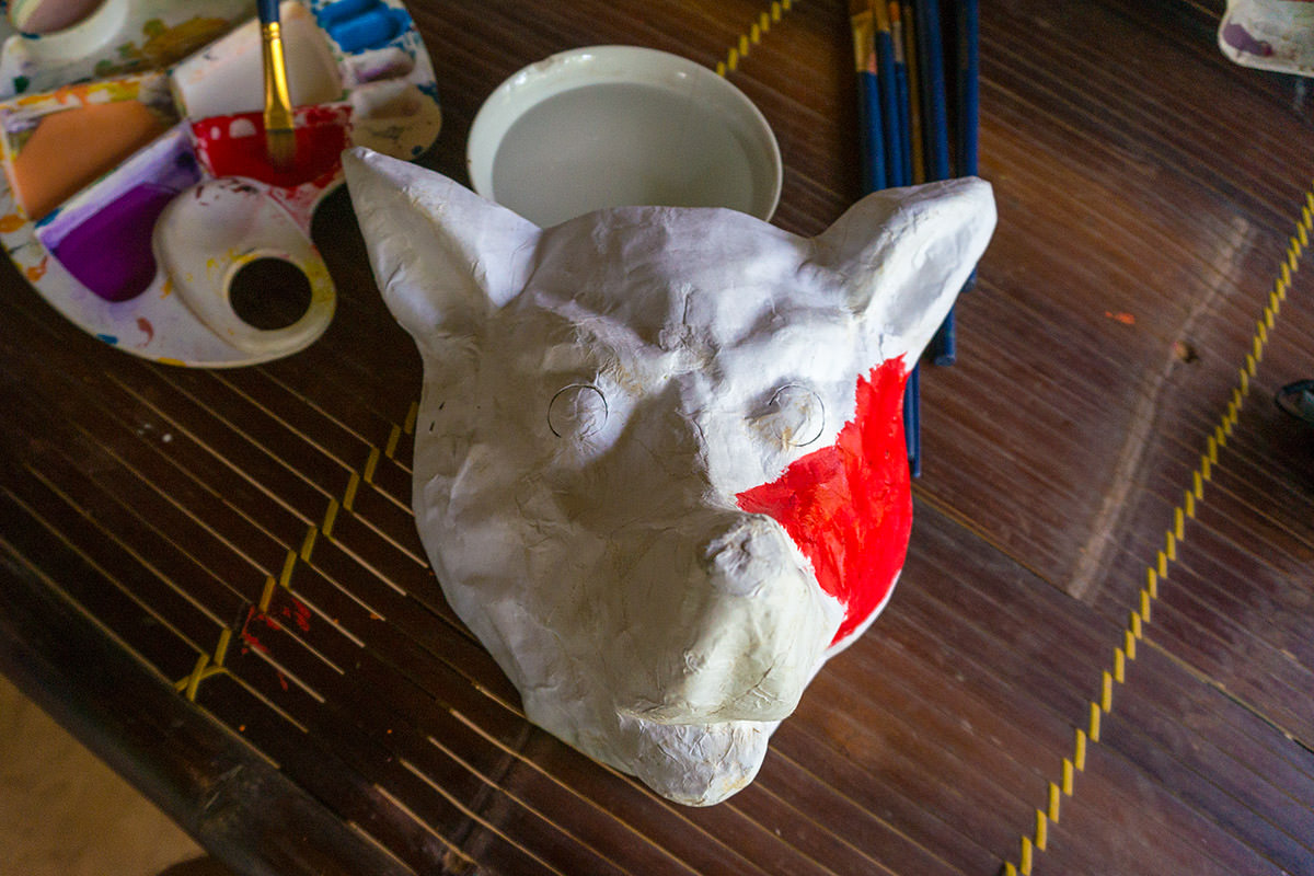 My Red Dog Vietnamese Mask