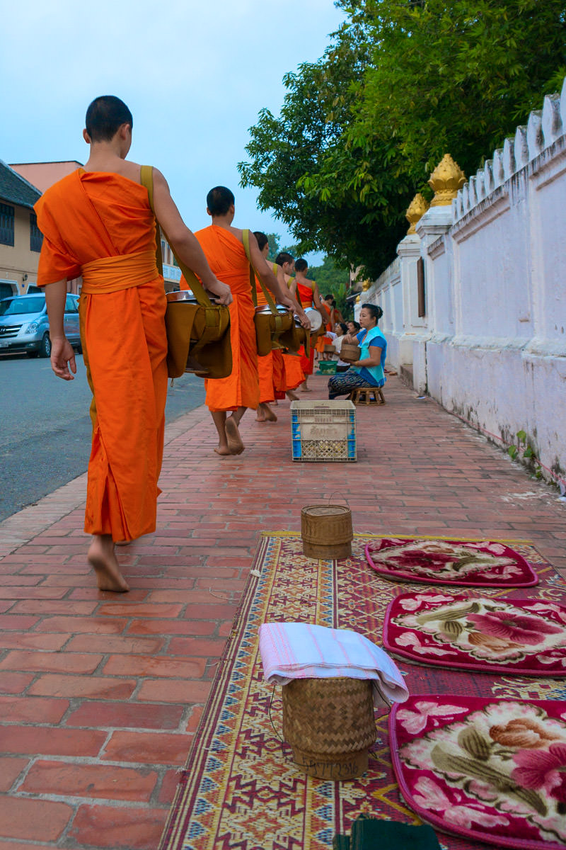 Morning Alms to the Monks
