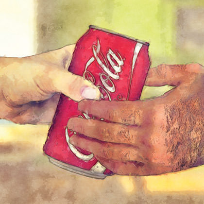 Hands on a Coke