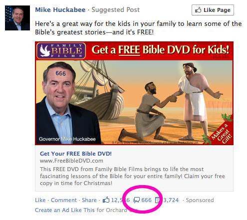 Huckabee is Satan?