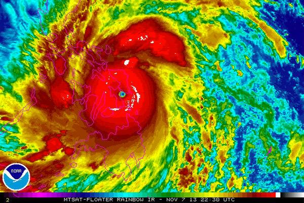NOAA Haiyan Map