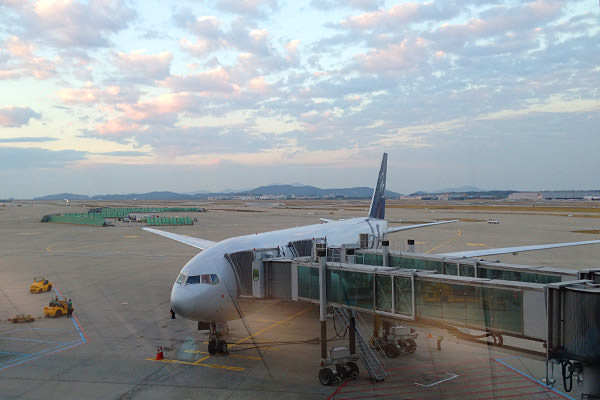 Seoul SkyTeam Plane Going Home