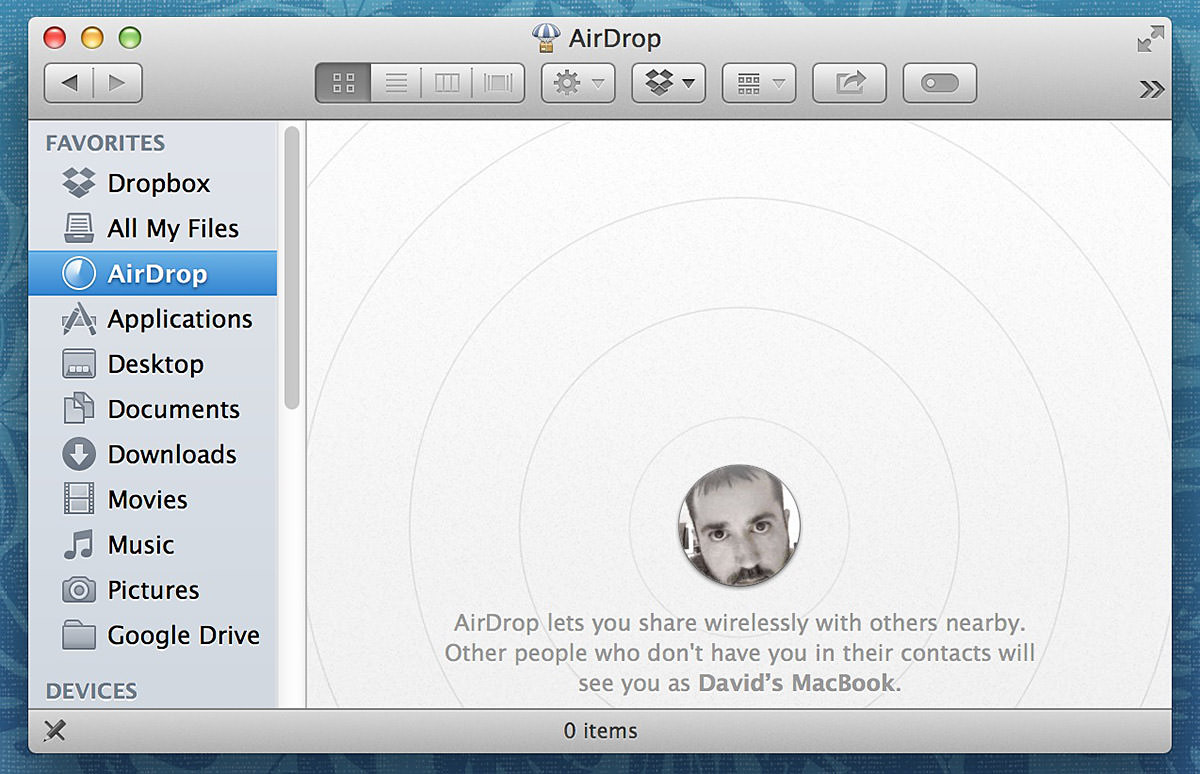 Locate The File You Want To Share In The Finder, Activate Airdrop, And You  Can Beam Stuff To Other Airdrop Users Airdrop Mac