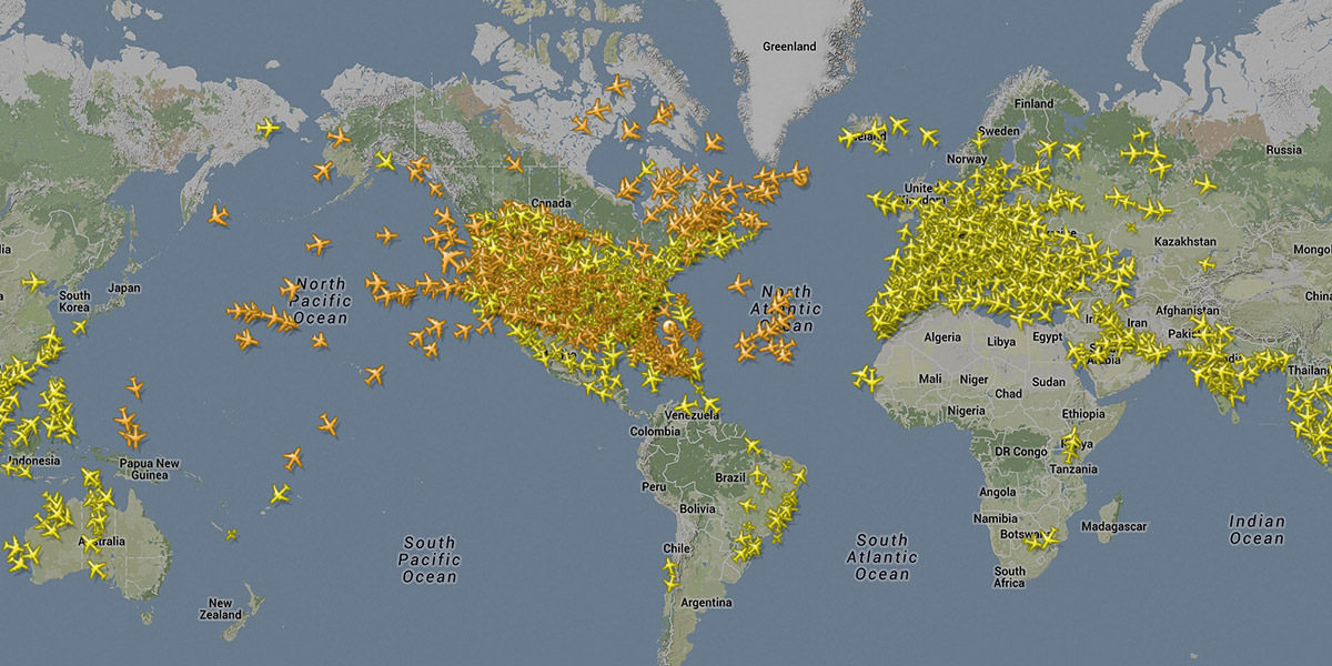 Flight Radar World Map