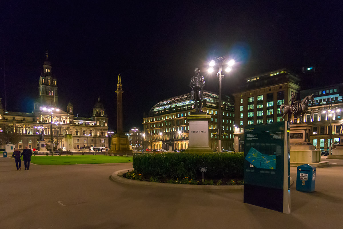 George Square in Glasgow, Scotland