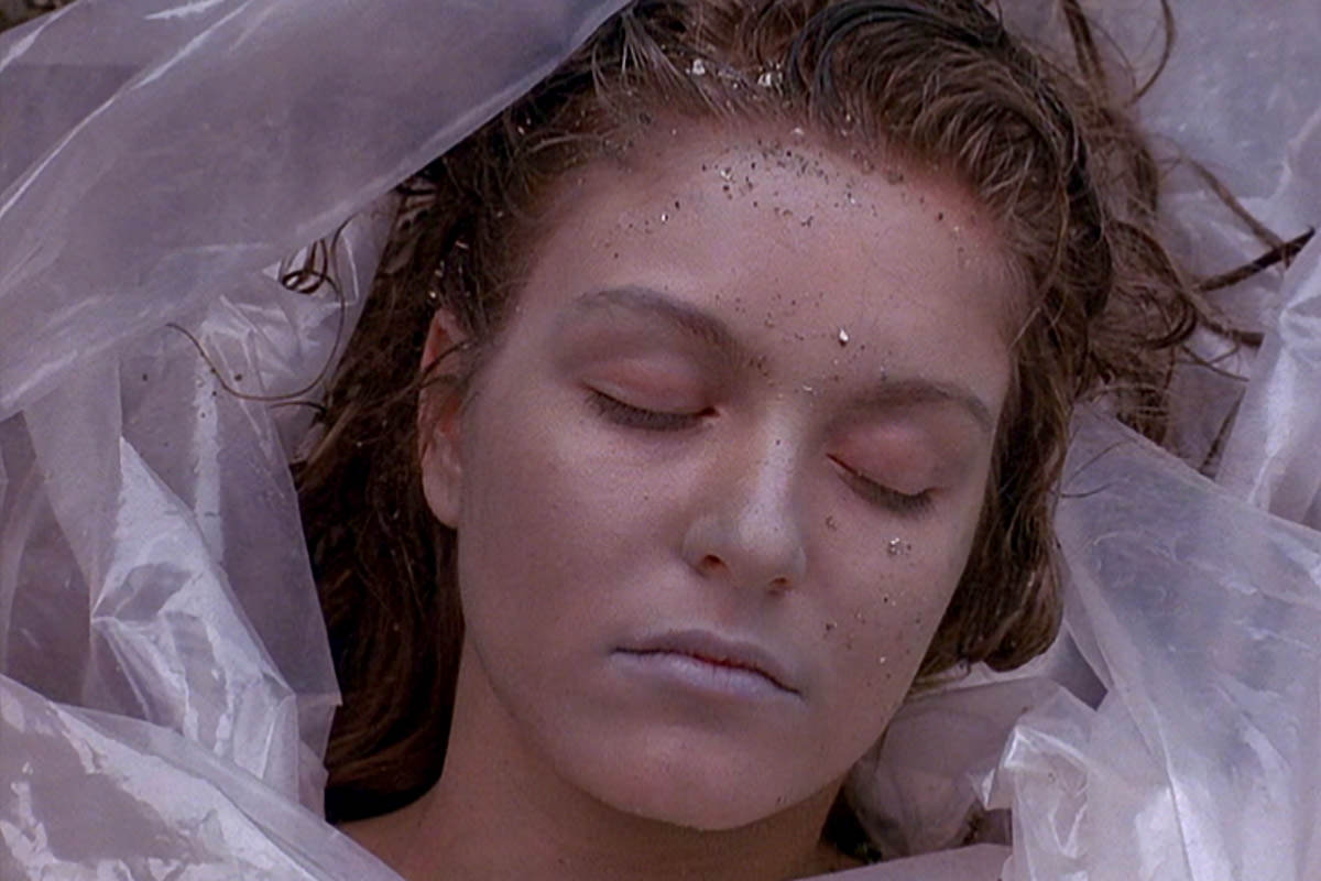 Laura Palmer. Dead and Wrapped in Plastic.