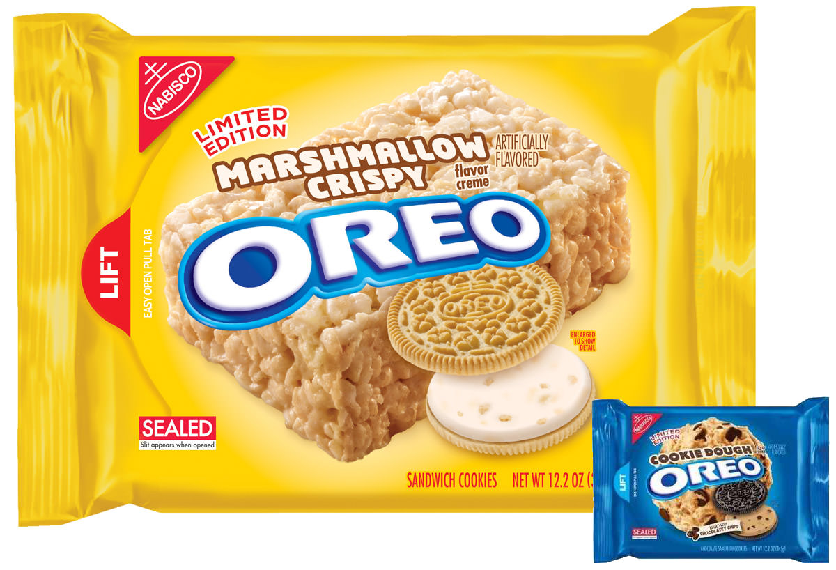 New OREOs! Marshmallow Crispy OREO Cookie Dough OREO