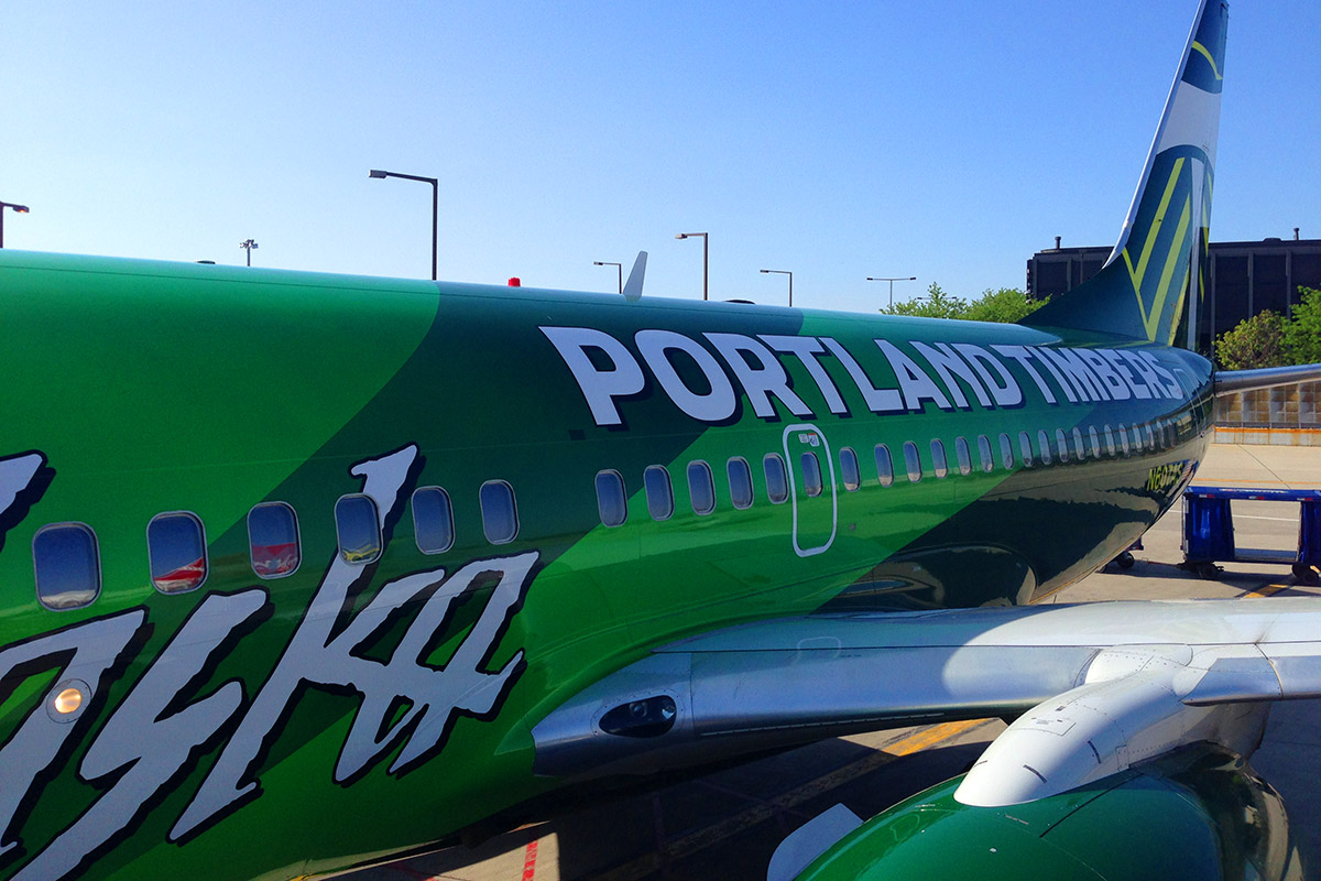The Portland Timbers Plane